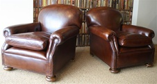 Dark Chestnut 1930's Leather Club Pair