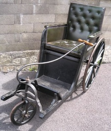 Original Bath Chair with Leather Upholstery