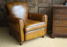 Fully Restored French Leather Club Chair.....