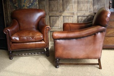 Barley Twist Restored Leather Club Pair
