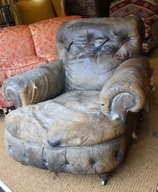 Original Victorian Leather Club Chair