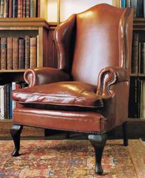 Well known Leather Chairs of Bath Chelsea Design Quarter Leather Queen Anne  AH79