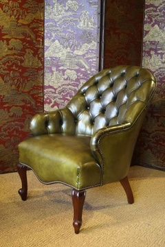 The Spoonback Victorian Chair in Leather