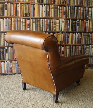19th Century Leather Armchair