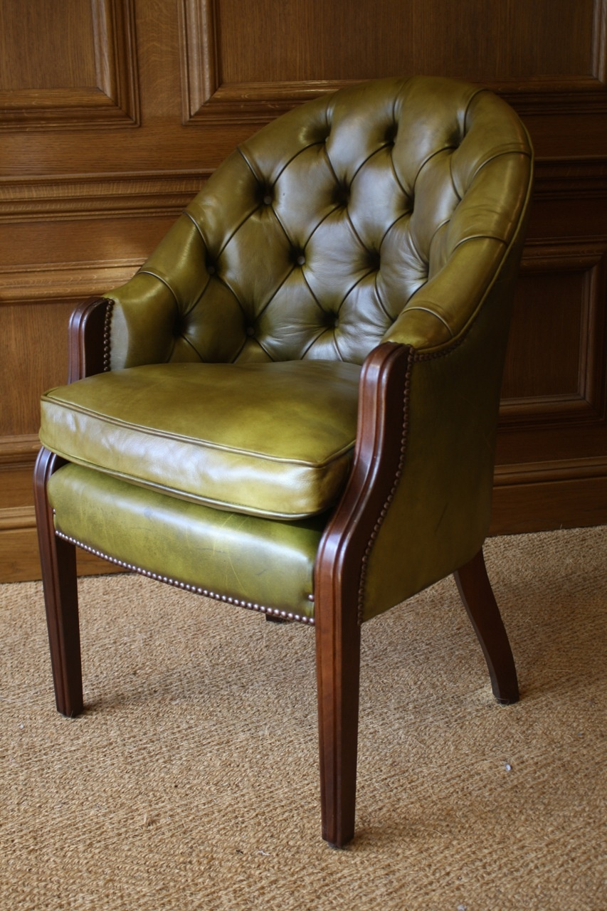 Leather Desk Chair, Leather Chairs of Bath, Leather Victorian Desk