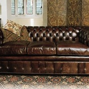 Three-Seater Chesterfield with Bun Feet