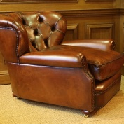 Deep Duckling Leather Chair