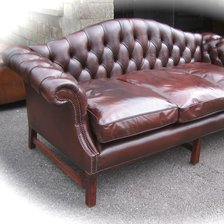The Camelback Sofa in Leather