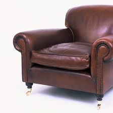 Full Scroll Lansdown Chair in Leather