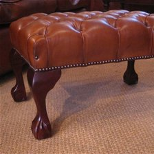 The Chippendale Stool with Claw & Ball Legs