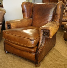 Early 20th Century Smoker's Leather Armchair